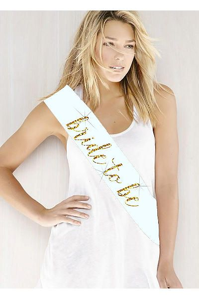 Glitter Print Bride To Be Sash - available in 35 colors!