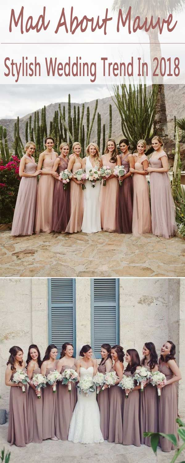 2018 STYLISH & PRETTIEST WEDDING COLOR TREND : SHADE OF MAUVE - Wedding Invites Paper
