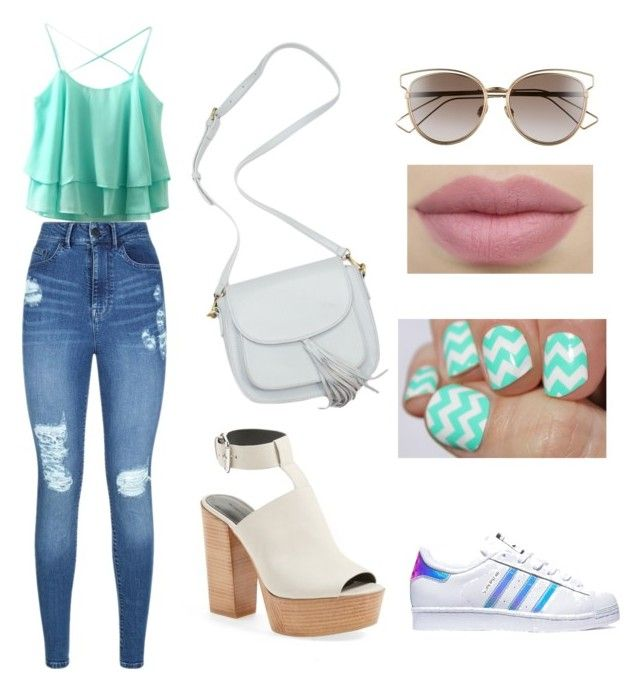 """""""casual y deportivo"""" by samantha2nazaret on Polyvore featuring Lipsy, Rebecca Minkoff, adidas and Christian Dior"""