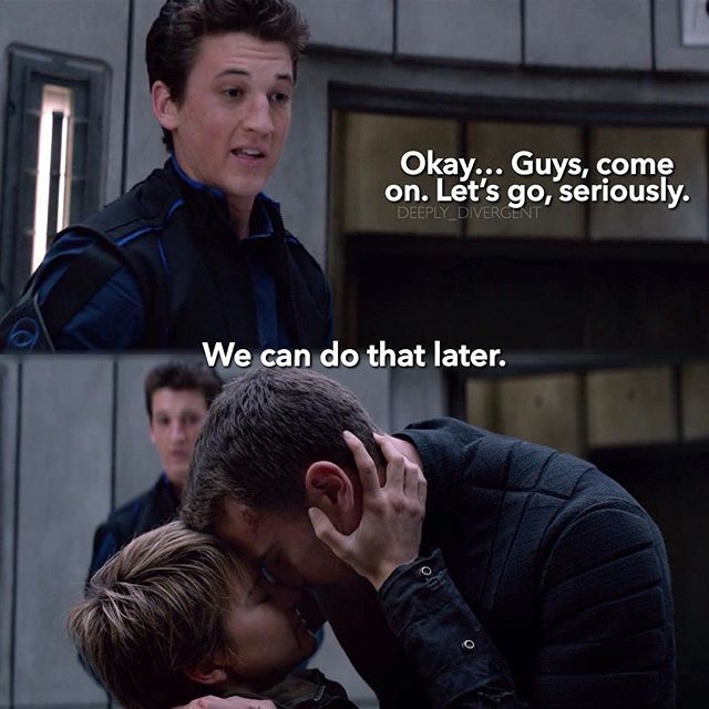 Peter wasn't shipping FourTris at that moment … oh Peter lol!