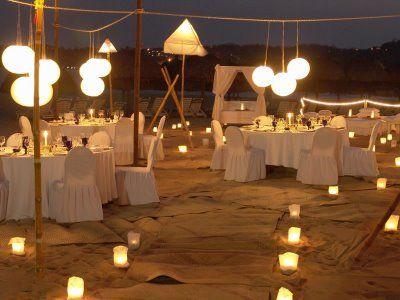 iluminacion para boda en la playa - Buscar con Google