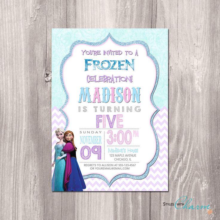 Frozen Invitation, Frozen Birthday Invitation, Frozen printable Invitation, Frozen Birthday Theme, Disney Frozen Printable Invitation by StyleswithCharm on Etsy https://www.etsy.com/listing/205381387/frozen-invitation-frozen-birthday