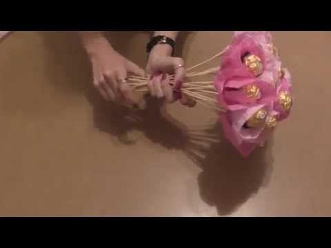 Cómo hacer un ramo de chocolates - Hola Titi DIY - YouTube