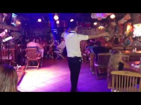 Everyone enjoyed joining in with this cover of 'Sweet Caroline' by Tolga and Sercan - Live Music at Planet Yucca Kusadasi