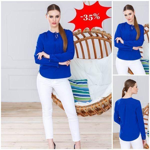 Bluza albastra eleganta casual http://ift.tt/29BTV9e