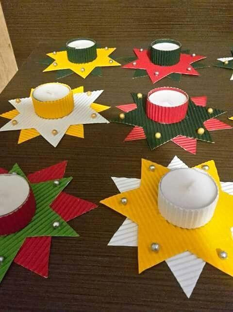Weihnachtskarten Basteln Mit Kindern Schön Kerzenhalter Basteln An Weihnachten