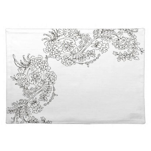 Vintage Lace Tattoo Look Place Mat Pictures