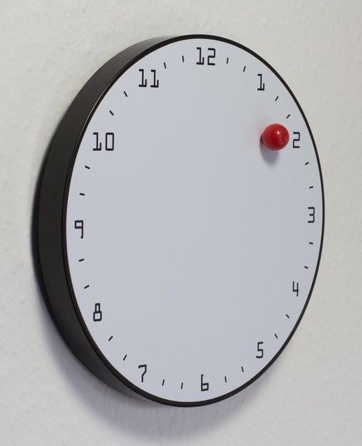 Clock, Wall, Magnetic Ball /as minimalistic as minimalistic gets / ie when  magnetic