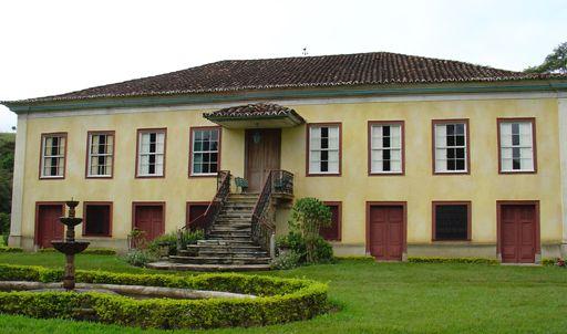 Sede da Fazenda do Resgate, no vale do rio Paraíba, Bananal, estado de São Paulo, Brasil.