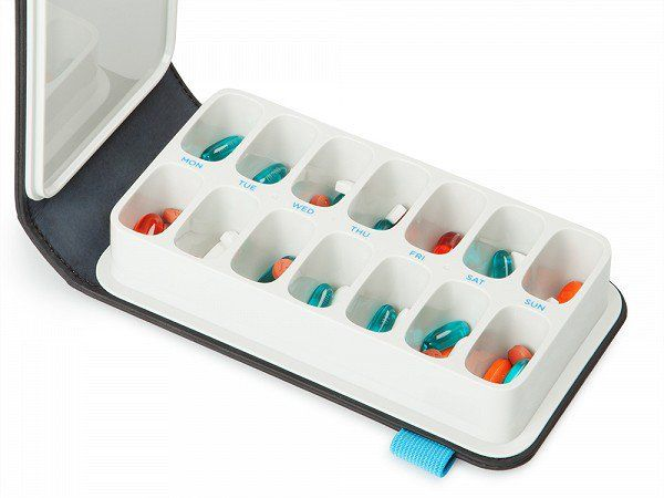 This pill organizer, discovered by The Grommet, makes following any pill regimen easy by holding up to a week's worth of pills in a single stylish container.