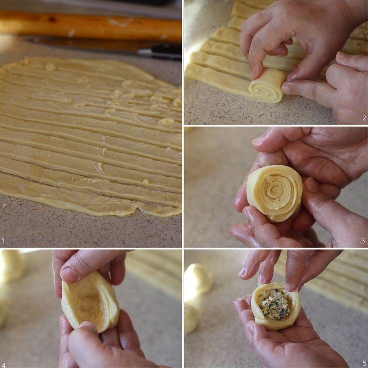 preparare placinte turban cu branza 2