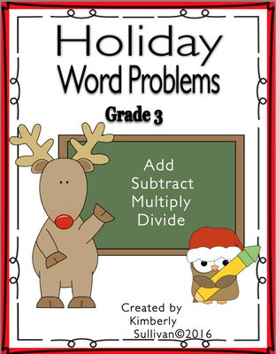 Christmas+DOLLAR+DEAL+Holiday+Math+Word+Problems+25+task+cards+Grade+3+Centers++from+Kimberly+Sullivan+on+TeachersNotebook.com+-++(18+pages)++-+25+fun+math+task+cards+for+the+holidays,+grade+3.+addition,+subtraction,+multiplication,+division Your+kiddos+will+be+engaged+while+solving+these+fun+word+problems!