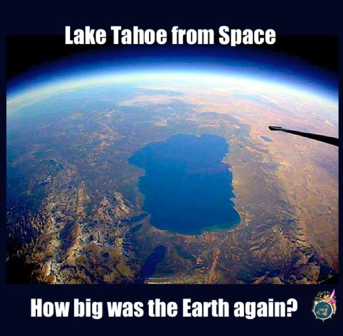 Stop being fooled by the fish eye lens.  FLAT EARTH FUN