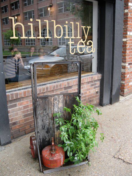 One of the cutest little places I have been.  Hillbilly tea in Louisville. Had breakfast there with Aaron and we loved it!