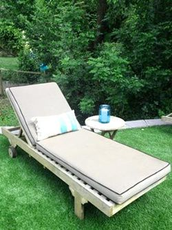 Deckchair with custom cushions perfect for poolside or patio