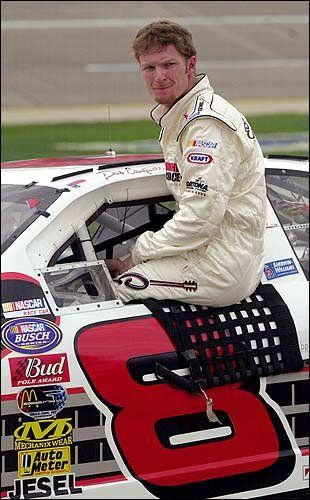 dale earnhardt jr 2003 photos | Dale Earnhardt Jr. climbs out of his car after winning the Aarons312 ...
