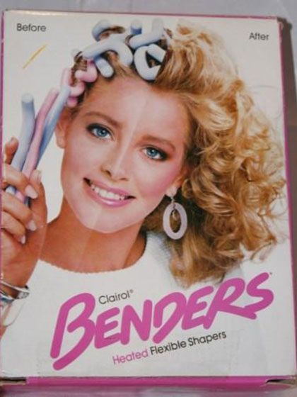 Clairol Benders hair curlers These heat-up, squishy pink-and-blue tubes, which kind of looked like pastel Cheez Doodles on your head, weren't exactly the best way to get beachy waves. However, if you were going for that perm-without-a-perm look, they were awesome.
