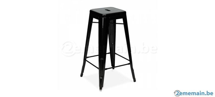 tabouret de bar style tolix neuf a vendre deco appart. Black Bedroom Furniture Sets. Home Design Ideas