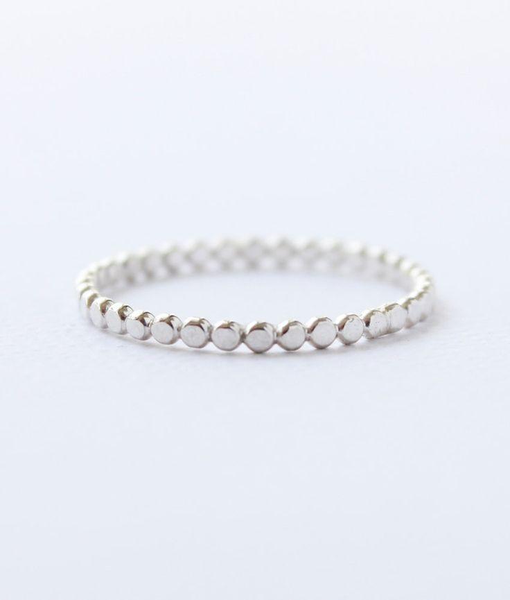 Sterling silver polka dot ring silver bead ring by Belinda