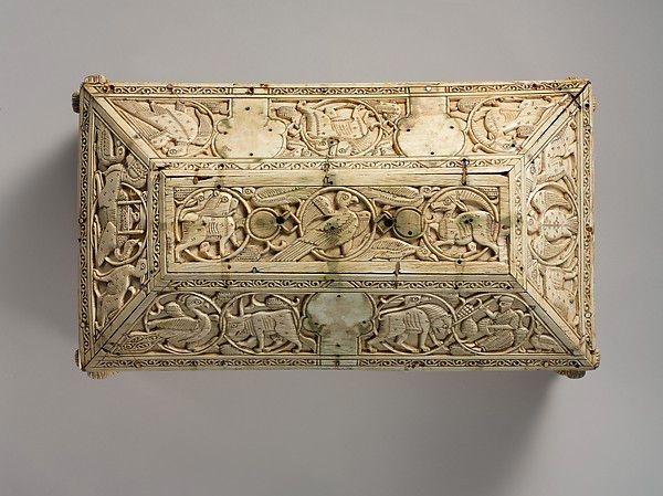 Ларец Morgan Casket, слоновая кость. Северная Италия, XI-XII вв. - Орнамент и стиль в ДПИ