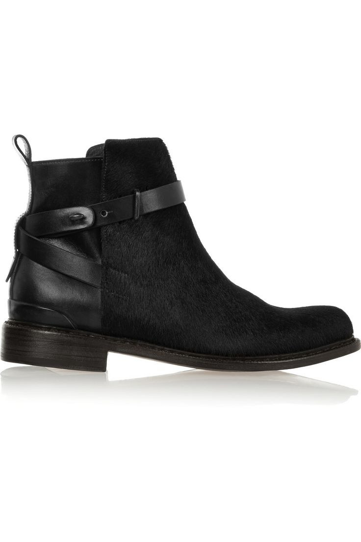THE OUTNET Driscoll calf hair and leather boot