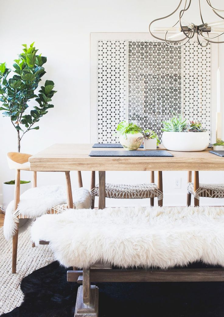 7 Beautiful Bohemian Dining Rooms We Love via @MyDomaine #LGLimitlessDesign  #Contest