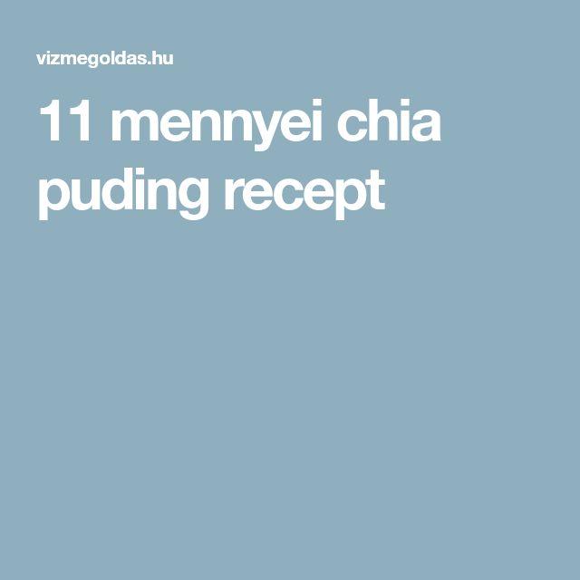 11 mennyei chia puding recept