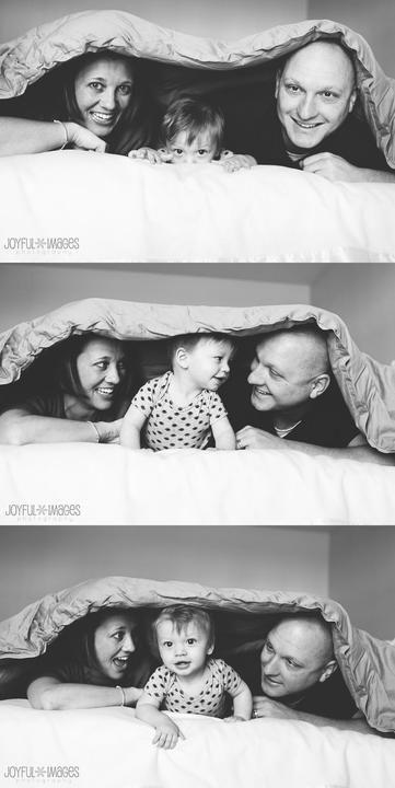 Rodinné focení   pod peřinou   inspirace