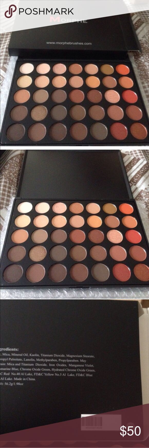 Morphe 350 palette brand new in box Morphe 350 palette never used. I know how much this palette is I also know that shipping is 8.99 plus tax plus I waited 2 months for it to be shipped. I have never used it so I'm selling. You can choose to purchase through me or morphe if in stock or eBay etc. please don't say it's 22 dollars because it is not 22 when said and done it really turns out to be about 37 I paid total. No trades price firm posh only morphe Makeup Eyeshadow