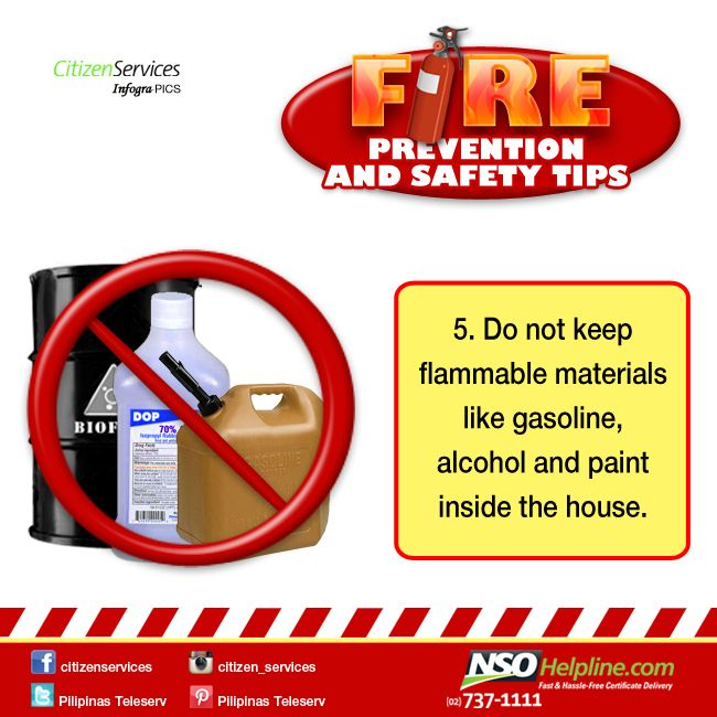 Fire Prevention Safety Tips 5: Do not keep flammable materials like gasoline…