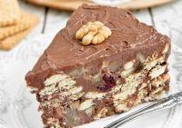 Τούρτα με καρύδια, κράνμπερις και μπισκότα - ΠΤΙ-ΜΠΕΡ | γλυκές ιστορίες