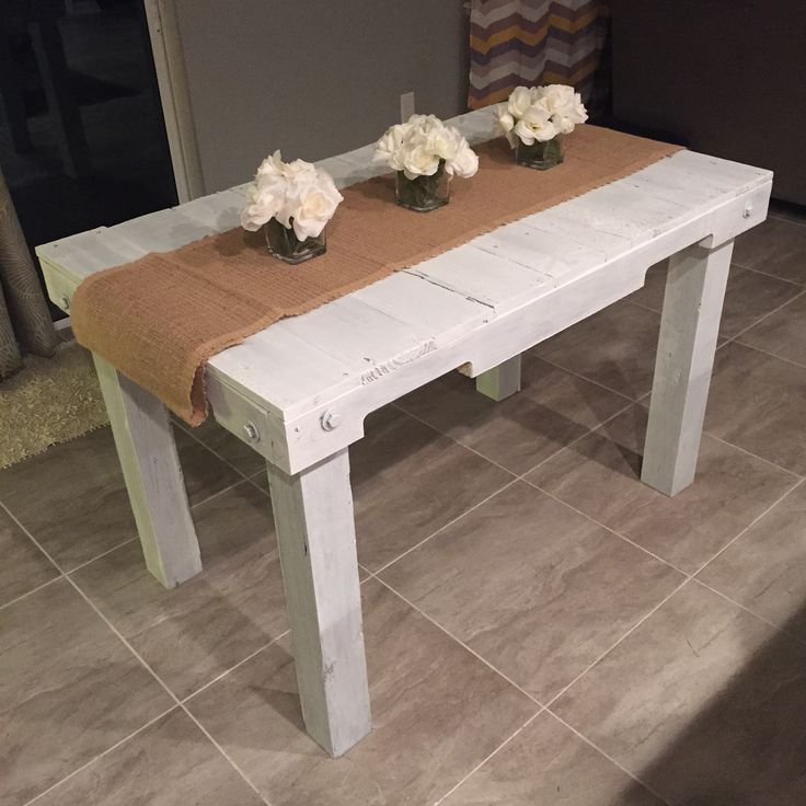 Just finished this dining table/oversized desk!  White washed for a classic and clean look.