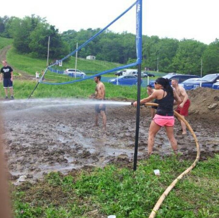 mud volleyball. I WANT TO DO THIS.