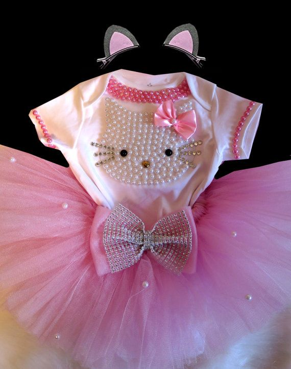 Hello Kitty Birthday Tutu Set Girls by BabyDressBoutique on Etsy