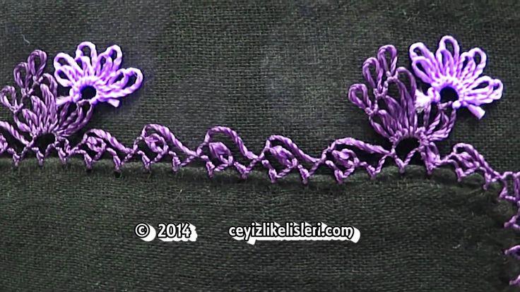 Yeni Mor Renkli İğne Oyası Örneği - New Purple Color Sample of Needlework