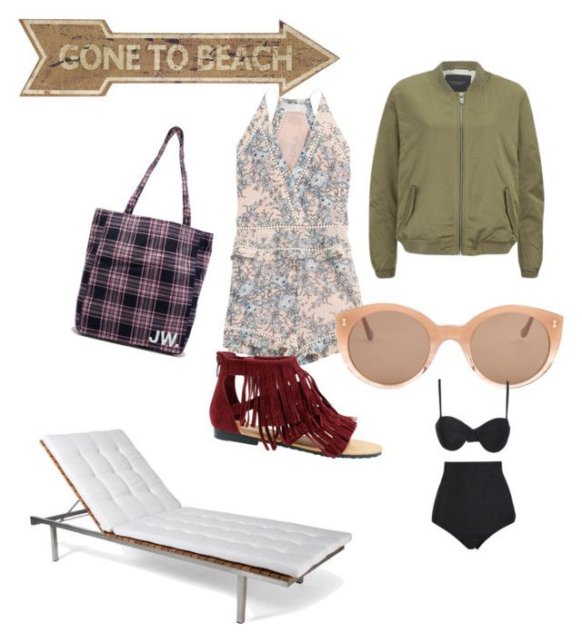"""Tourist casual outfit"" by cjones135 on Polyvore featuring Zimmermann, Jack Wills, Maison Scotch, Illesteva, Skargaarden, Universal Lighting and Decor, Beach Riot, women's clothing, women and female"