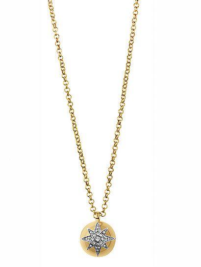 Tolle Kette von NOVASTAR SG CRYSTAL DYRBERG KERN aus goldfarbenem Metall mit schickem Sternenanhänger
