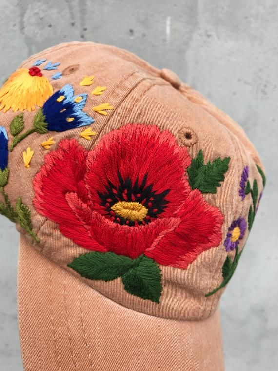Hand Embroidered Hat Embroidered Baseball Caps Custom Image 3 In 2020 Custom Embroidered Hats Embroidered Hats Hand Embroidered