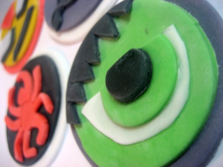 AVENGERS Cupcake Toppers -  Edible Fondant - Iron Man, Thor, Captain America, Hulk, Black Widow, Hawkeye. $30.00, via Etsy.