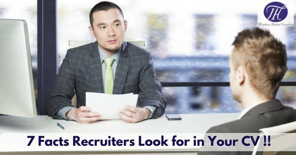 7 Facts Recruiters Look in your CV !! #career #careergoals #interview #jobtips #recruitment #Recruiter