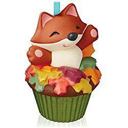 Sly and Sweet Fox Keepsake Christmas Cupcake Ornament 2015 Hallmark