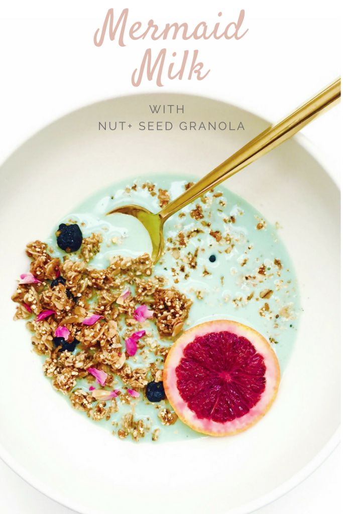Mermaid Milk with Nut and Seed Stovetop Granola