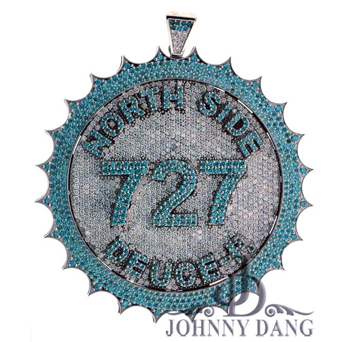 CJ-0003NS- Custom Diamond Area Code Charm, Johnny Dang & Co