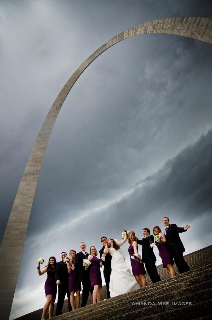 St. Louis, Wedding, St. Louis Arch, Bridal Party, Amanda Mae Images, Bend Oregon Photographer,