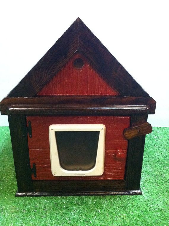 Heated Outdoor Cat House/2 doorsshelterbedcondosanctuary by stabob, $ ...