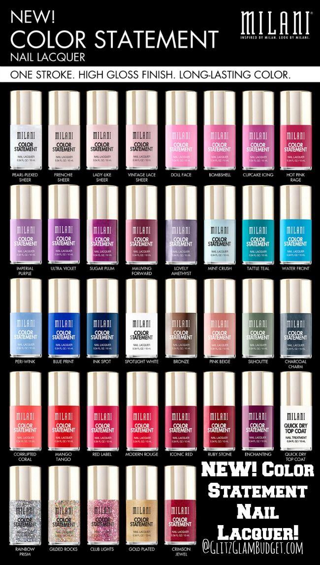 NEW Milani Cosmetics Color Statement Nail Laquers