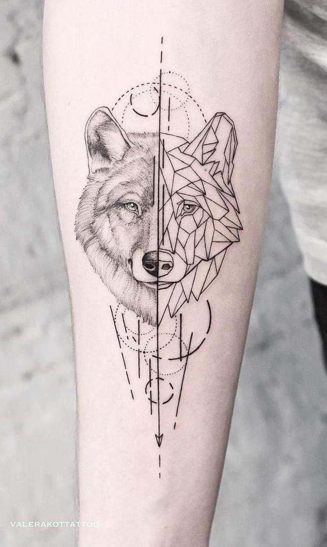 Abstract Wolf Tattoos 1000 In 2020 Geometric Wolf Tattoo Wolf Tattoos For Women Geometric Tattoo