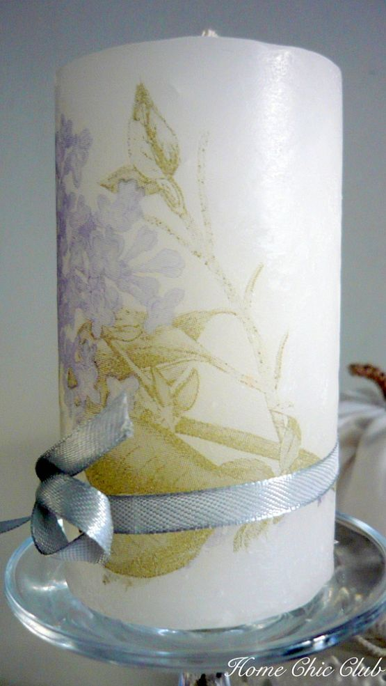 1000+ images about Decoupage on candles on Pinterest | Tea ...