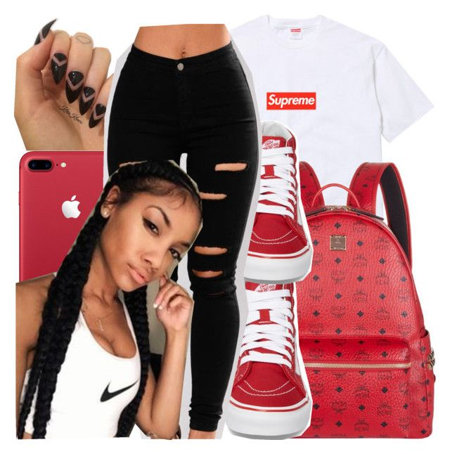 """Untitled #128"" by notgabriella ❤ liked on Polyvore featuring MCM and Vans"