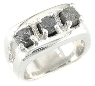 MANGAGEMENT RING - 3 rough-cut Canadian diamonds, approximately 6 carats TDW, set in Sterling or your choice of gold. Custom made and priced accordingly.  ashechtm@rogers.com for more info